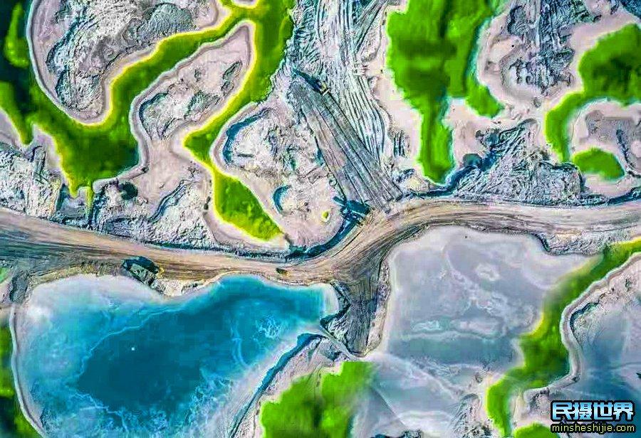 茫崖翡翠湖航拍